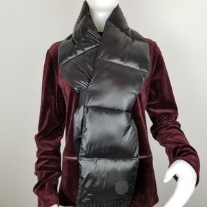 DKNY Black Quilted Puffer Scarf NWT